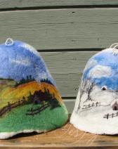 filcētas pirts cepures
